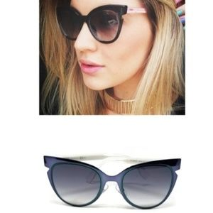 Fendi Blue/Gray Cat Eye Sunglasses Like New 0133/S
